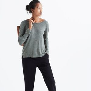 MADEWELL Anthem Boat Neck Olive Green Tee